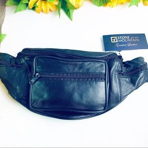 Stone Mountain Multi Pocket Leather Belt Bag NWT